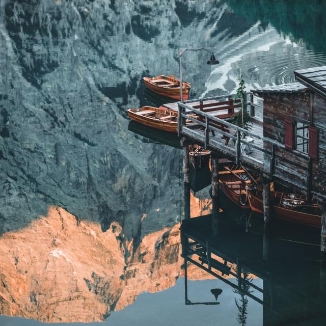 """""""Lago Di Braies"""" stock image"""