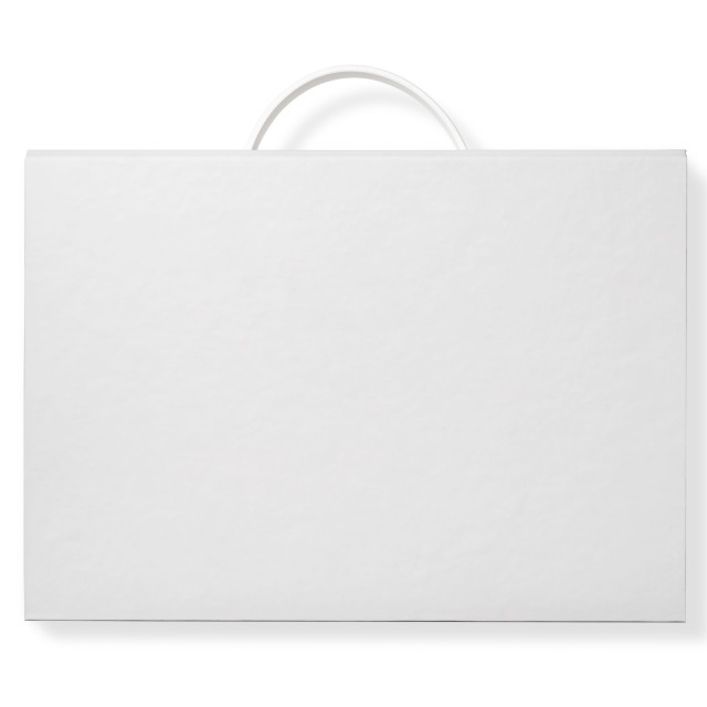 """Cardboard Document Case Isolated on White"" stock image"