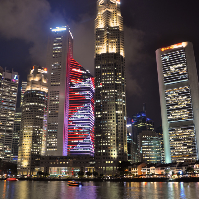 """Boat Quay, Singapore"" stock image"