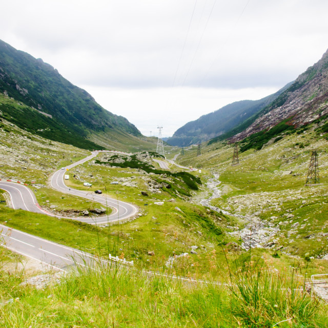 """""""View of famous Transfagarasan Highway in Romania"""" stock image"""