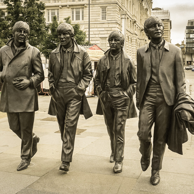 """Beatles Statue"" stock image"
