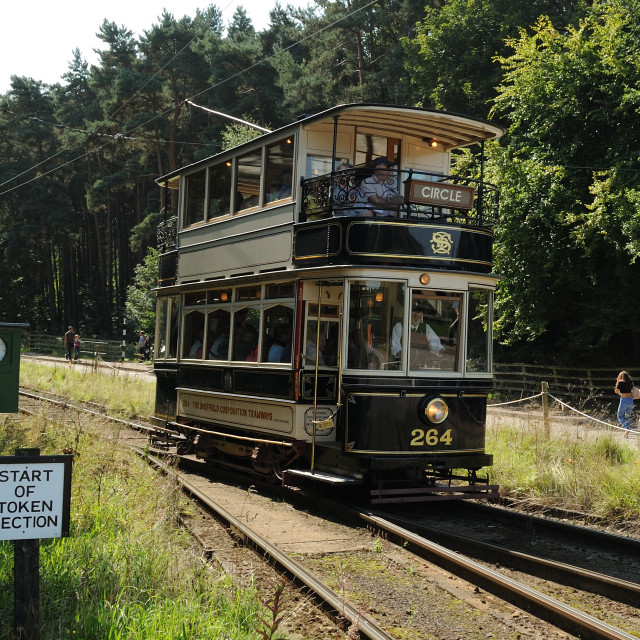 """Sheffield Tram"" stock image"