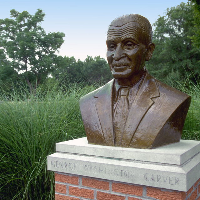 """George Washington Carver Bust"" stock image"