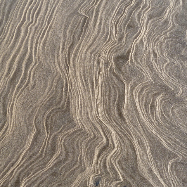 """Ripples of Sand"" stock image"