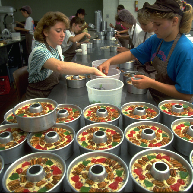 """Fruitcake Making"" stock image"