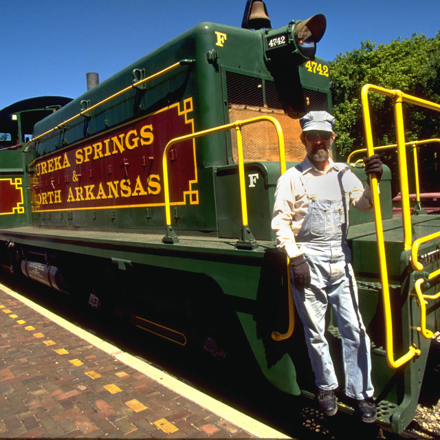 """The Train Brakeman"" stock image"