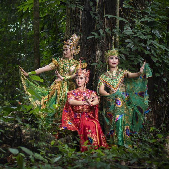 """Sundanese dancers"" stock image"