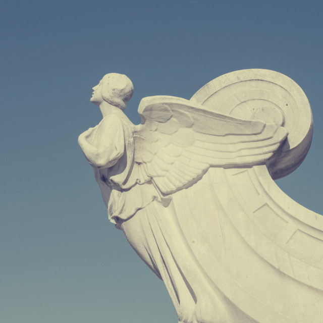 """""""The winged figure of Democracy in front of Union Station in Wash"""" stock image"""