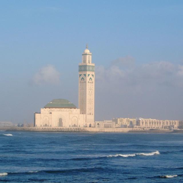 """""""Hassan II Mosque, Casablanca"""" stock image"""