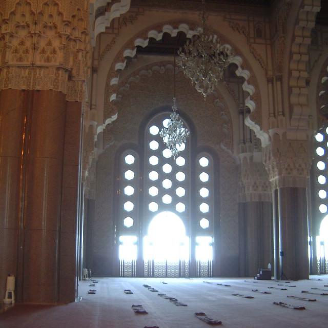 """""""Inside Hassan II Mosque, Casablanca"""" stock image"""