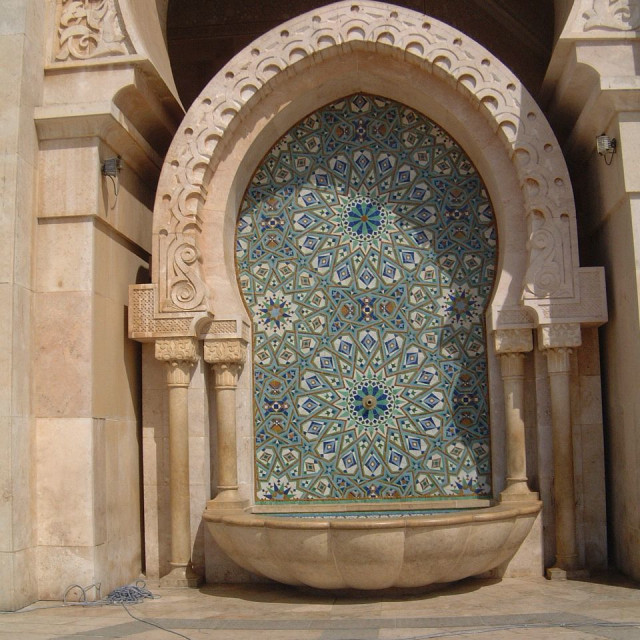 """""""Ornate Feature of Hassan II Mosque, Casablanca"""" stock image"""