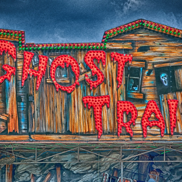 """The Ghost Train"" stock image"