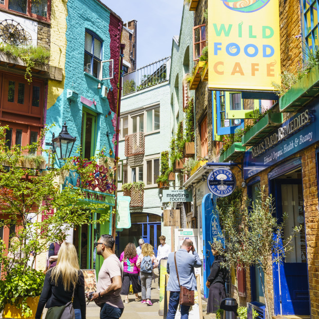 """Neal's Yard, Covent Garden, London, England"" stock image"