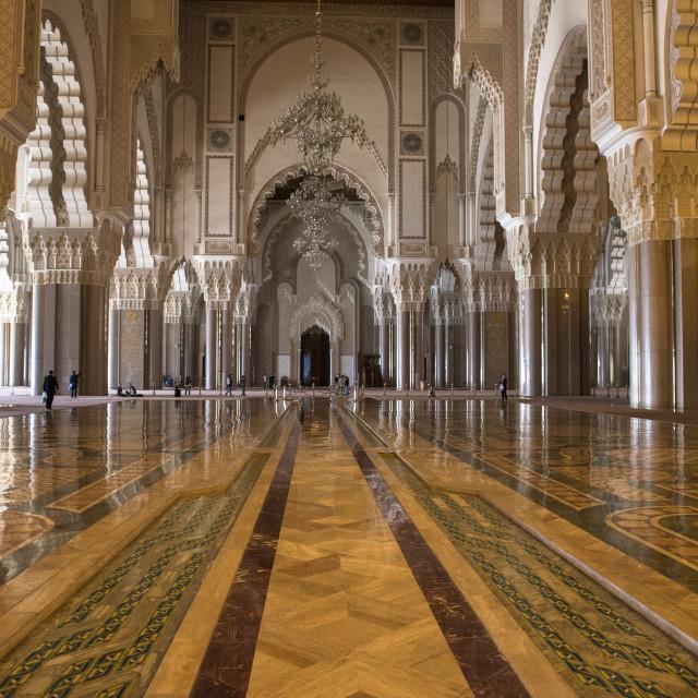 """""""Hassan II Mosque. Casablanca, Maroc."""" stock image"""