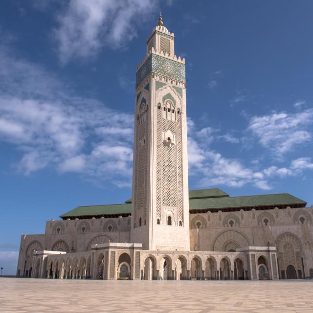 """""""Hassan II Mosque."""" stock image"""