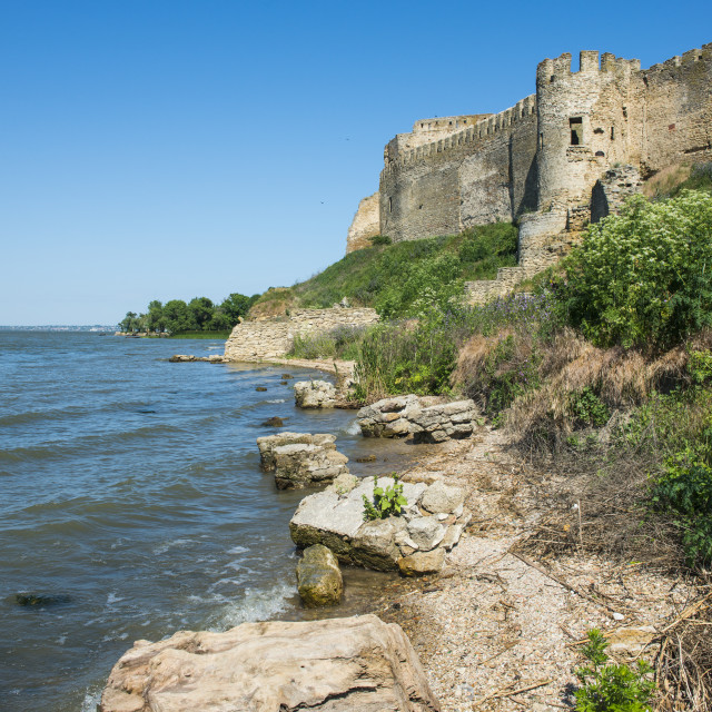 """Bilhorod-Dnistrovskyi fortress formerly known as Akkerman at the black sea..."" stock image"