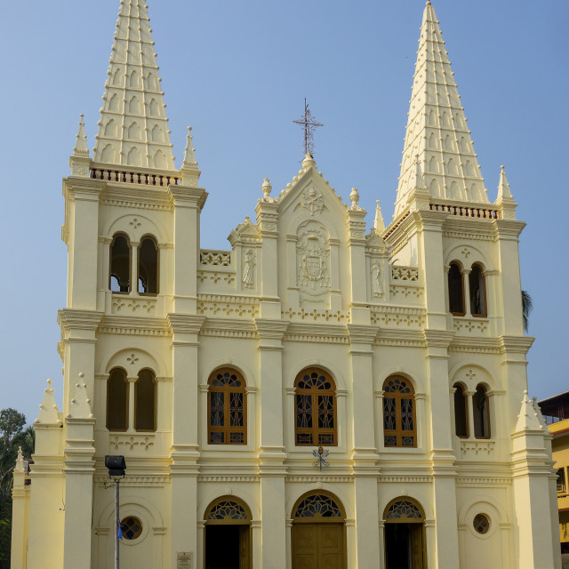"""Santa Cruz cathedral, Cochin, Kerala, India"" stock image"