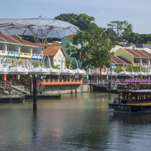 """Clarke Quay, Singapore"" stock image"