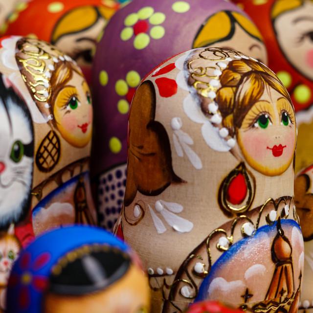"""""""Matryoshka Dolls 3"""" stock image"""