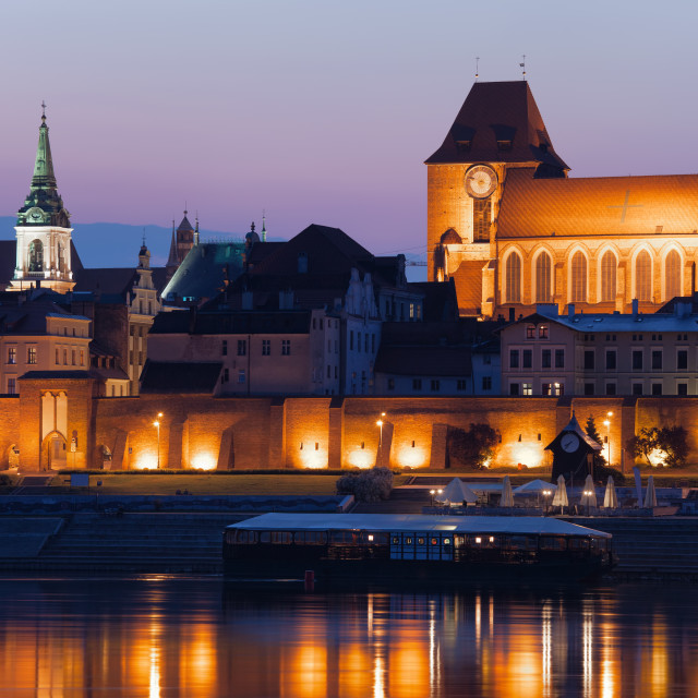 """Evening in Medieval City of Torun in Poland"" stock image"