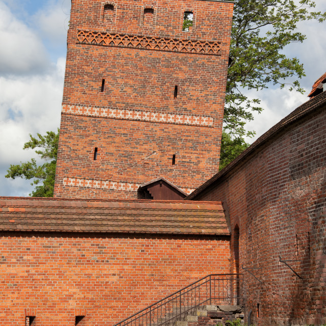 """""""The Leaning Tower in Torun"""" stock image"""