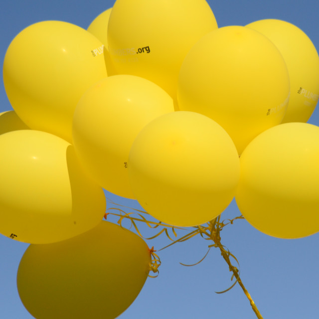 """Yellow Balloons"" stock image"