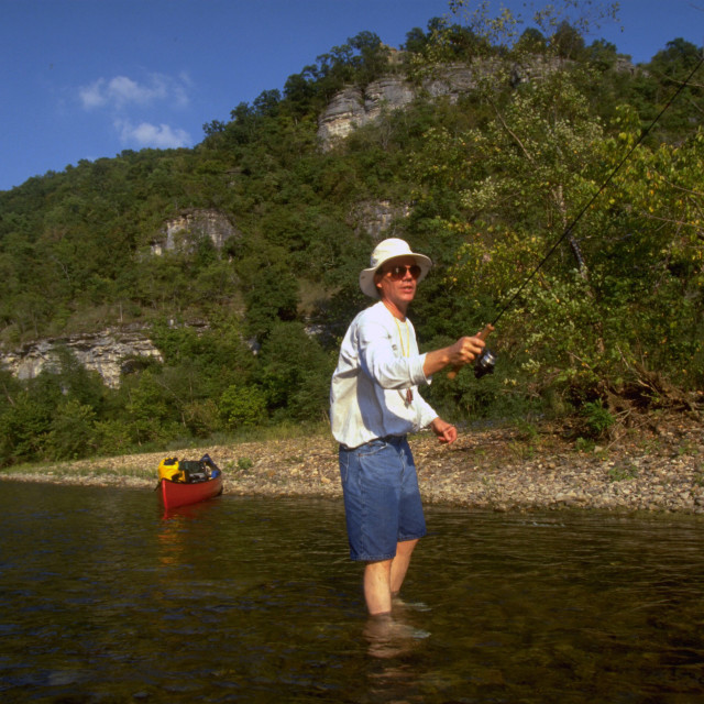 """Buffalo River Fishing"" stock image"