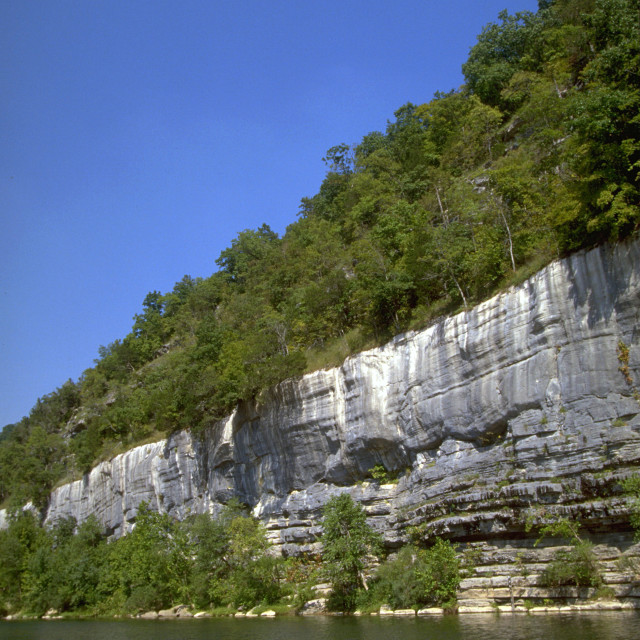 """Buffalo River Bluffs"" stock image"