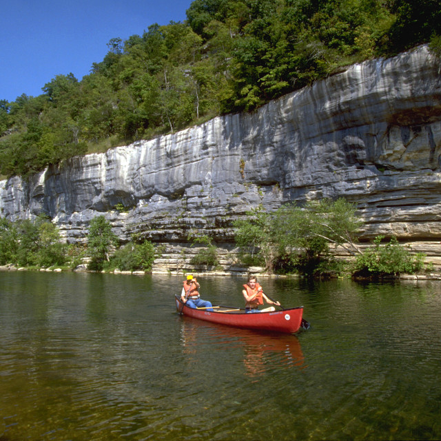 """Buffalo River Canoeing"" stock image"