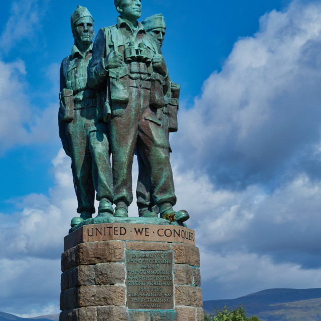 """Commando Memorial"" stock image"