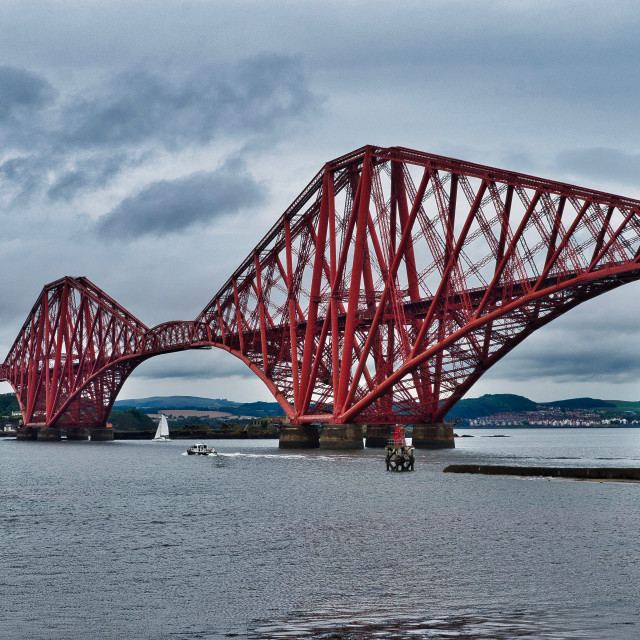 """The Forth Bridge"" stock image"