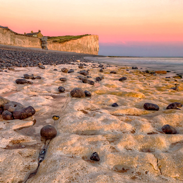 """Looking East at Birling Gap"" stock image"