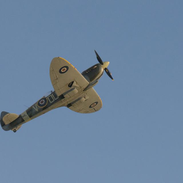 """The Grace Spitfire ML407"" stock image"