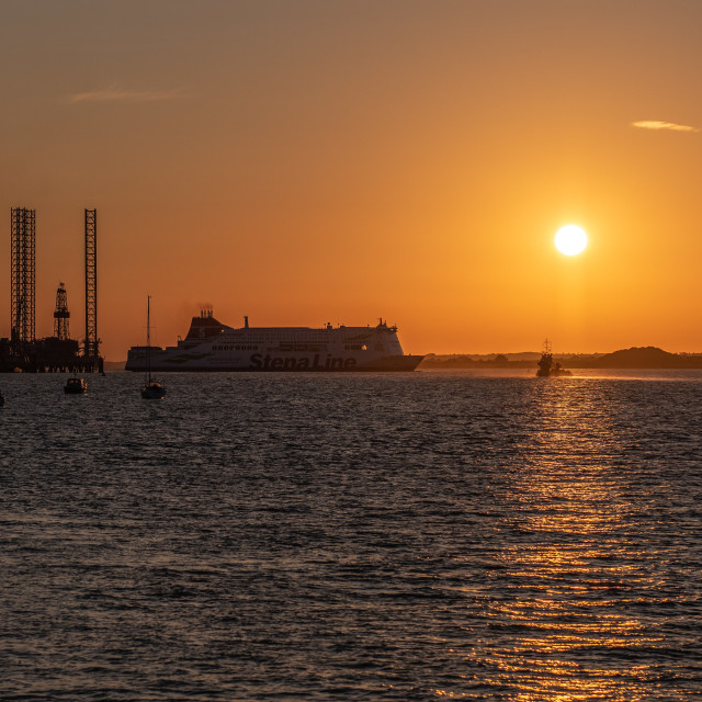 """Stena Hollandica Docks in Harwich"" stock image"
