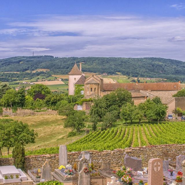 """French village in Burgundy region"" stock image"