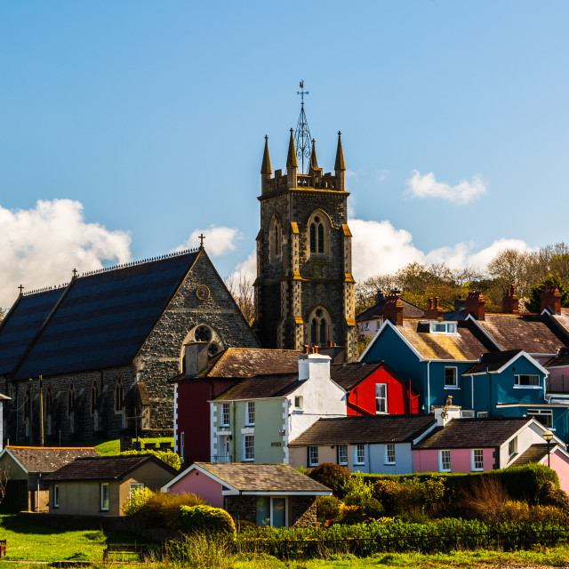 """A Sunny Day in Aberaeron"" stock image"
