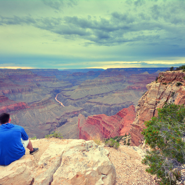 """South Rim Grand Canyon, Arizona, US."" stock image"