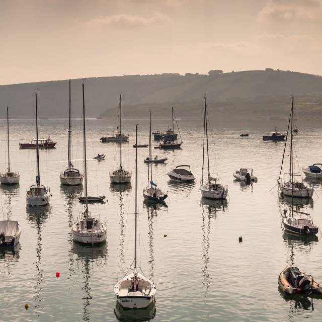 """Boats in the Bay"" stock image"