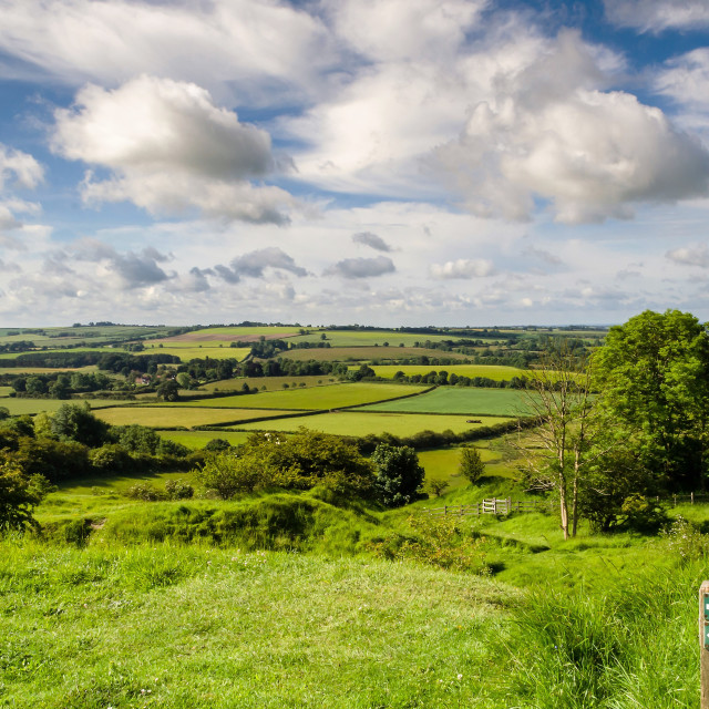 """""""Lincolnshire Wolds"""" stock image"""