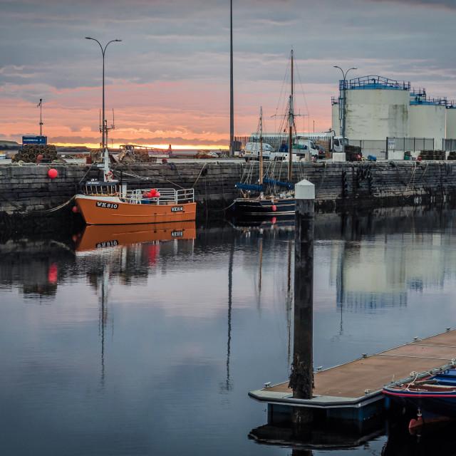 """Wick Harbour"" stock image"