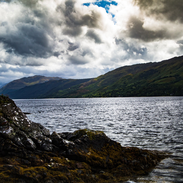 """Clouds Over the Kyle of Lochalsh"" stock image"