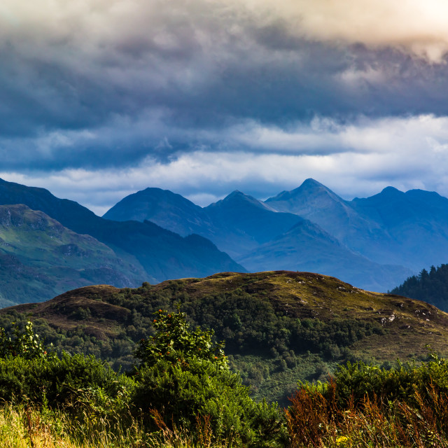 """Five Sisters of Kintail"" stock image"