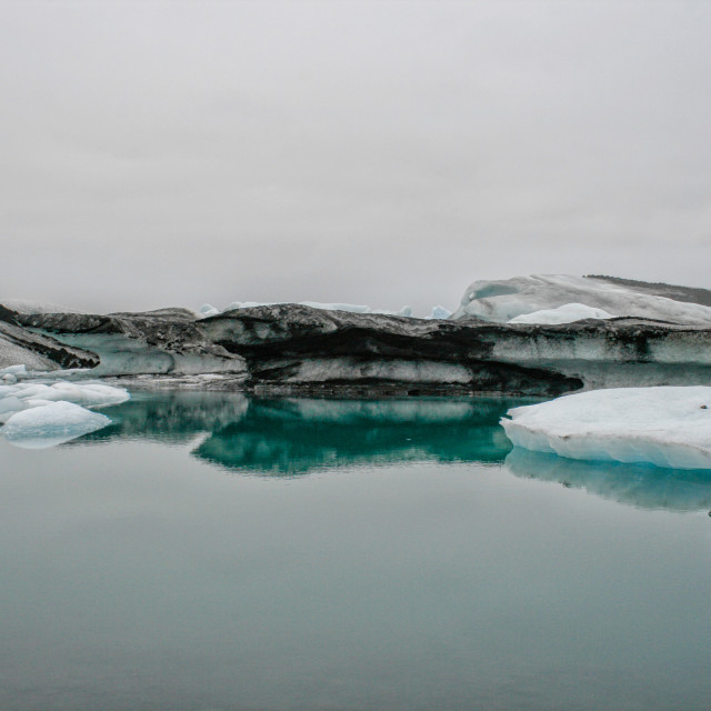 """Icebergs in Iceland"" stock image"