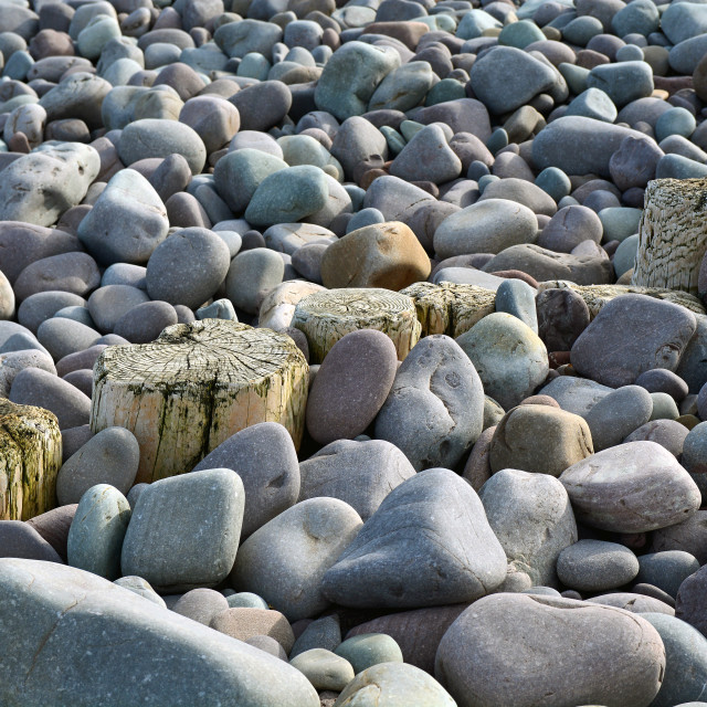 """Wave Breakers And Pebbles"" stock image"