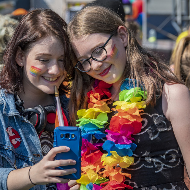 """""""Leicester Pride 2018"""" stock image"""