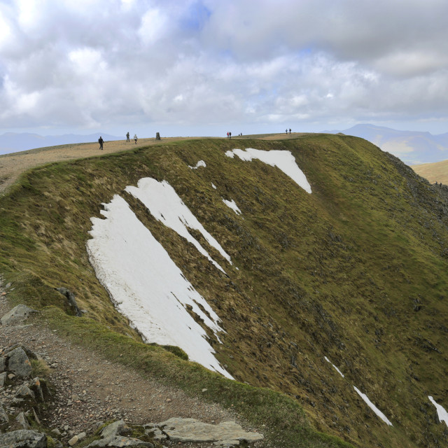 """""""The summit of Helvellyn fell, Lake District National Park, Cumbria, England, UK"""" stock image"""