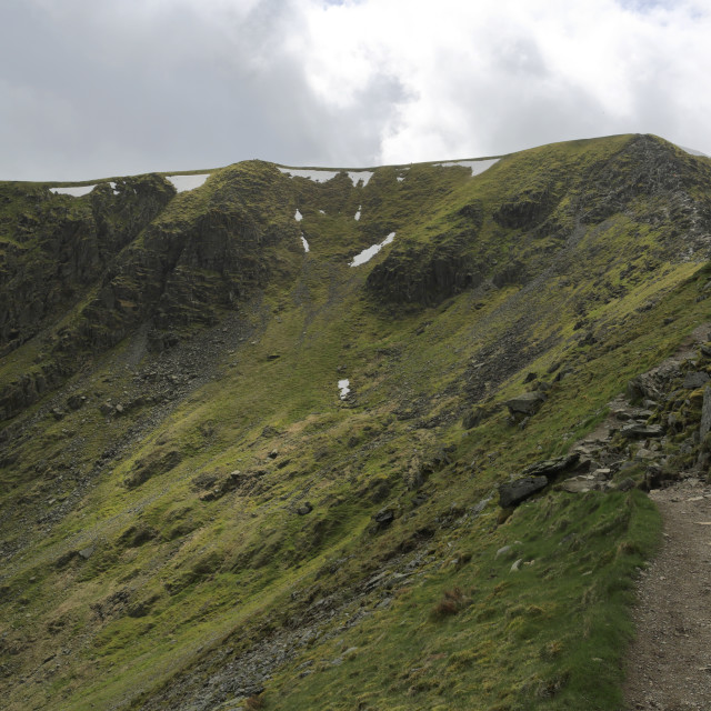 """""""View of the summit ridge of Helvellyn fell, Lake District National Park,..."""" stock image"""