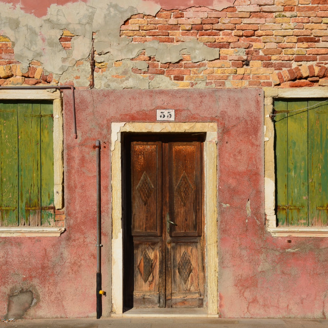"""A home in Burano, Italy"" stock image"