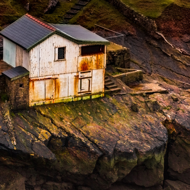 """Old Coastguard Hut"" stock image"