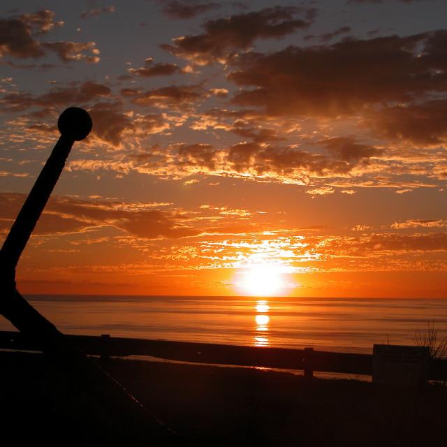 """Anchor sunset"" stock image"